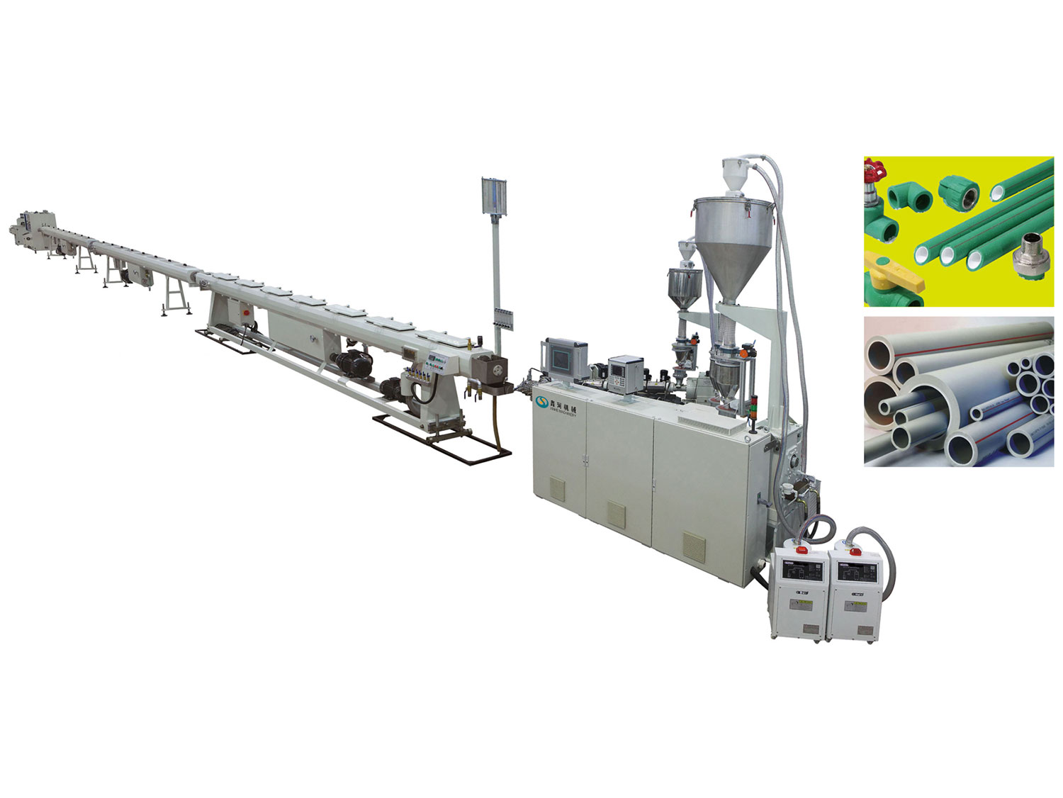 PP-R/PE-RT/PE Pipe Production Line